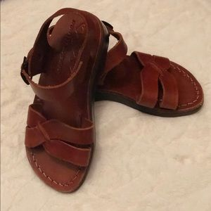 593d710f0efad Jerusalem All Leather Little Boys Sandals - Brown